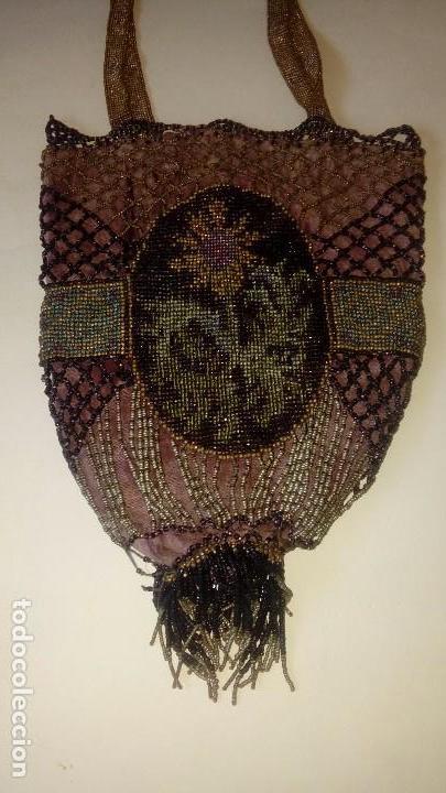 Antigüedades: Bolso modernista pp.SXX de mostacilla - Foto 4 - 133471722