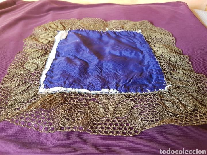 Antigüedades: Paño con rebeteado calado en hilo dorado - Foto 3 - 133474734