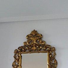 Antigüedades: ESPEJO CON PAN DE ORO. Lote 133475629