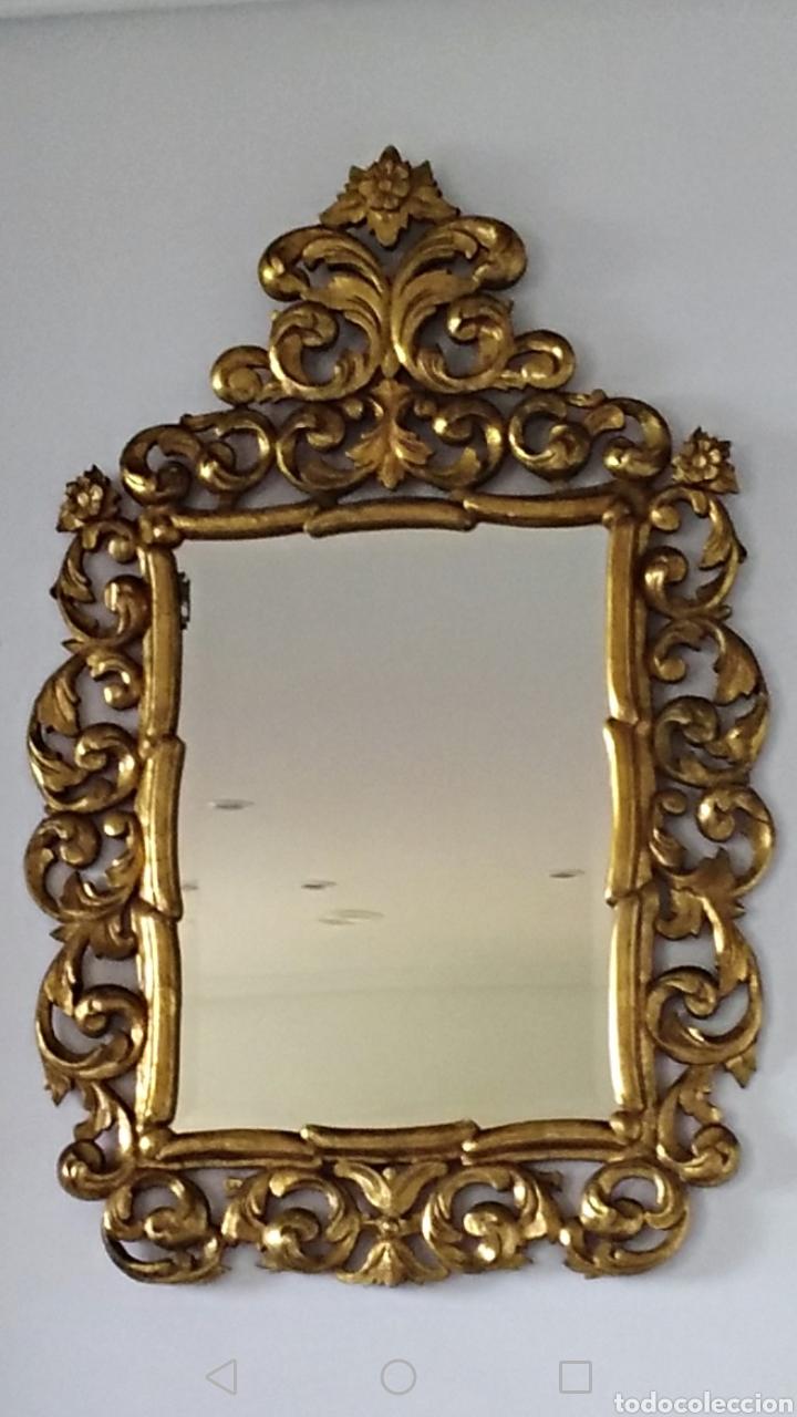Antigüedades: Espejo con pan de oro - Foto 2 - 133475629