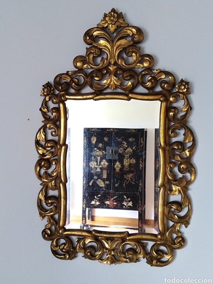 Antigüedades: Espejo con pan de oro - Foto 3 - 133475629