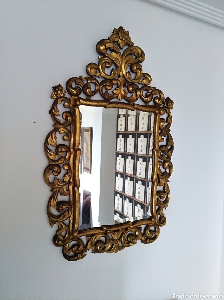 Antigüedades: Espejo con pan de oro - Foto 4 - 133475629