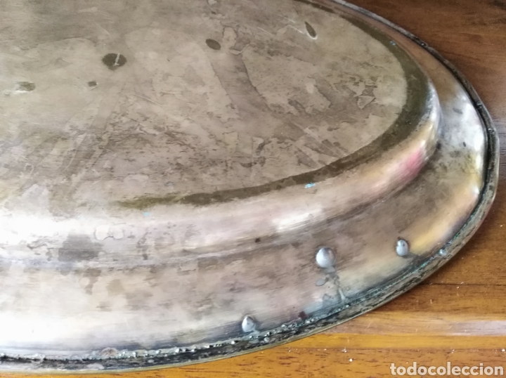 Antigüedades: 2 bandejas metálicas antiguas. - Foto 6 - 133482283