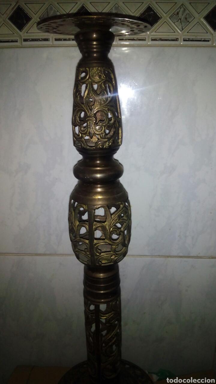 Antigüedades: Candelabro de metal dorado 58 cm. - Foto 3 - 133498514