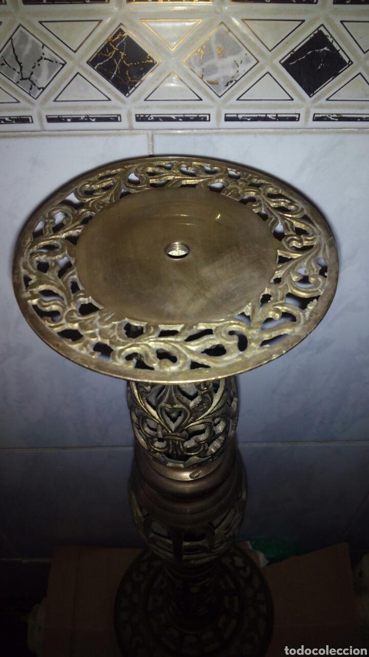 Antigüedades: Candelabro de metal dorado 58 cm. - Foto 4 - 133498514