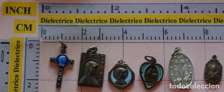 LOTE DE 6 MEDALLAS MEDALLITAS RELIGIOSAS. LOURDES, INMACULADA, SANTA TERESA... (Antigüedades - Religiosas - Medallas Antiguas)