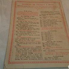 Antigüedades: MANERAS DE AYUDAR A MISA, EDITORIAL BALMES 1959. Lote 133506279