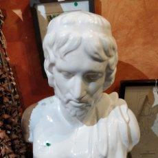 Antigüedades: ANTIGUO BUSTO EMPERADOR ROMANO EN PORCELANA BLANCA ALTURA 43 CM.. Lote 40735727