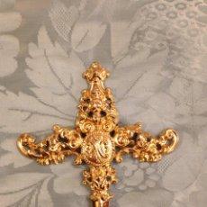 Antigüedades: PUÑAL BAÑO DE ORO, 16 CM ALTO X 14 ANCHO. Lote 133536490