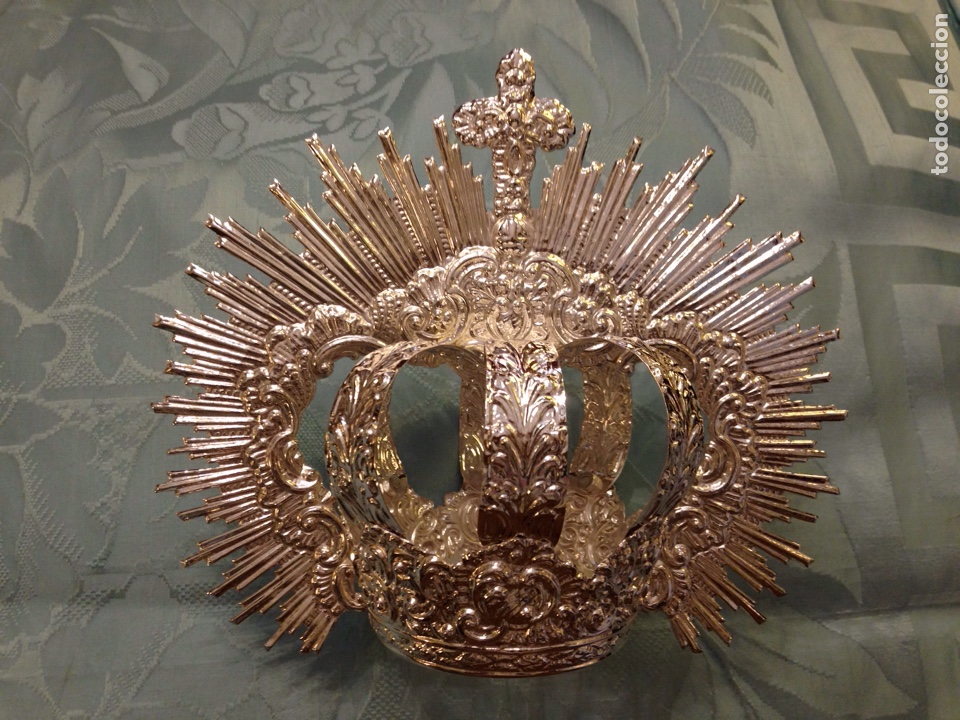 CORONA IMPERIAL DE VIRGEN, BAÑO DE PLATA 8 CM DIÁMETRO(NUEVO) (Antigüedades - Religiosas - Orfebrería Antigua)