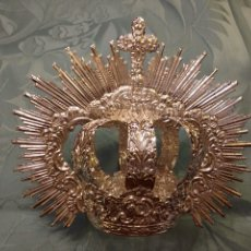 Antigüedades: CORONA IMPERIAL DE VIRGEN, BAÑO DE PLATA 8 CM DIÁMETRO(NUEVO). Lote 133539259