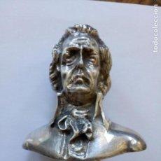 Antigüedades: BASTÓN CON PUÑO EN PLATA CON FORMA DE CABALLERO. Lote 133541106