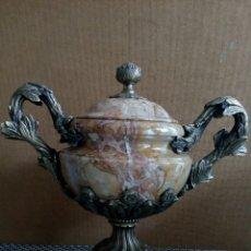 Antigüedades: COPA TAZZA DE MÁRMOL Y BRONCE PIERRE GOUTHIERE, FRANCESA, LUIS XVI, XIV, XV, ART DECO. Lote 133558462