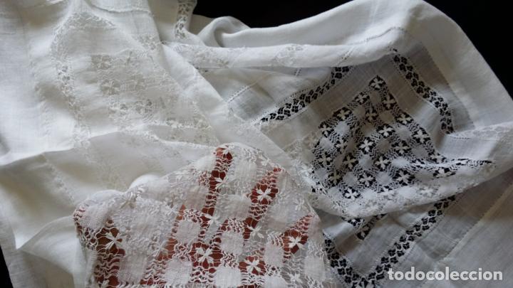 Antigüedades: Antiguo mantel bordado - Foto 2 - 133563902
