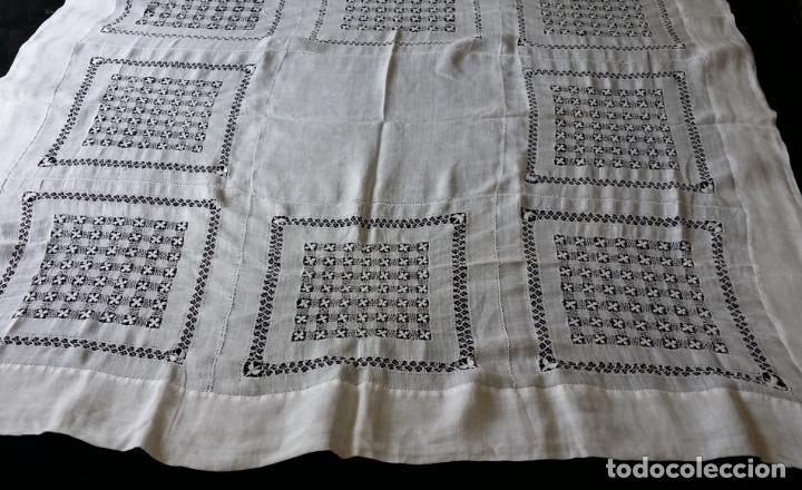 Antigüedades: Antiguo mantel bordado - Foto 7 - 133563902