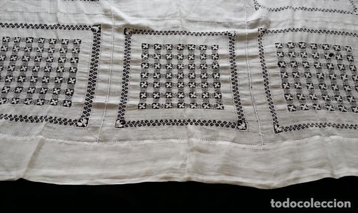 Antigüedades: Antiguo mantel bordado - Foto 8 - 133563902