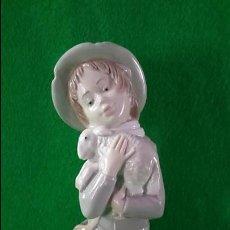 Antigüedades: FIGURA DE PORCELANA PASTOR DE ZAPHIR LLADRO SELLO EN BASE. Lote 133580262