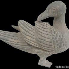Antigüedades: ANTIGUO PATO DE TERRACOTA DE ORIGEN CHINO. SIGLO XVIII.26X30X16. Lote 132734354