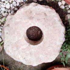 Antigüedades: PIEDRA DE MOLINO ANTIGUA.. Lote 133423622