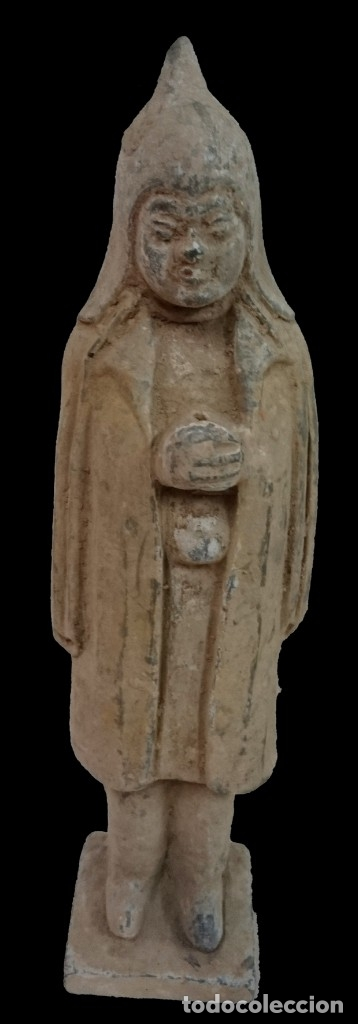 ANTIGUA TERRACOTA CHINA , DINASTÍA TANG (618DC-907DC). LEER (Antigüedades - Porcelanas y Cerámicas - China)