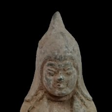 Antigüedades: ANTIGUA FIGURA, ESCULTURA CHINA DE TERRACOTA. RAREZA, PIEZA EXCLUSIVA.. Lote 132659154