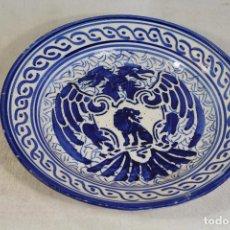 Antigüedades: PLATO AZUL MANISES. Lote 133600990