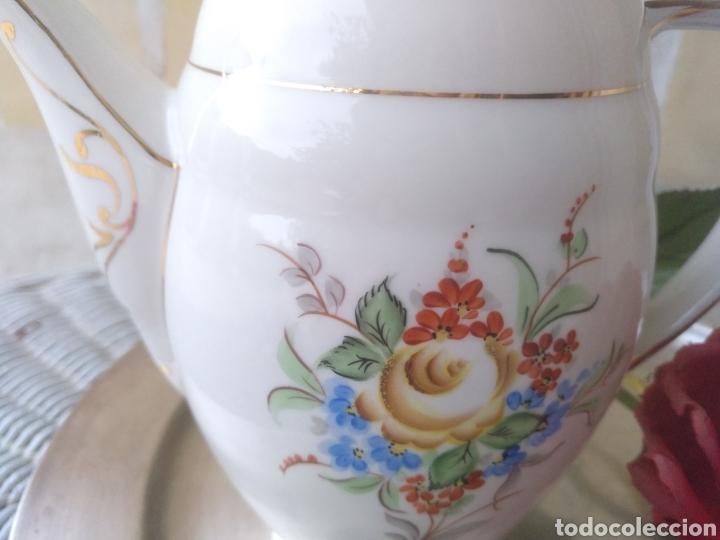 Antigüedades: antigua cafetera tetera de porcelana - Foto 3 - 113514059
