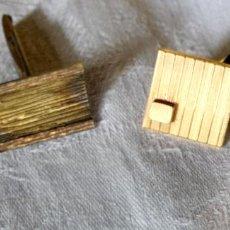 Antigüedades: LOTE DE GEMELOS VINTAGE. PLATA Y METAL DORADO. ESPAÑA. AÑOS 60. Lote 133622914