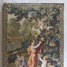 Antigüedades: TAPIZ DE GOBELINOS ITALIANO, SOBRE BASTIDOR DE MADERA PRIMERA MITAD S XX. Lote 133629358