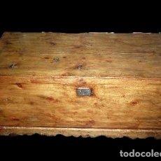 Antigüedades: SOBERBIO ARCÓN O BAÚL DE PINO ARAGONÉS. RESTAURADO. 137X110X63CM. Lote 121238599