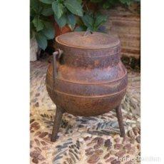 Antigüedades: ANTIGUO POTE DE FUNDICIÓN. Lote 133633198