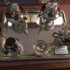 Antigüedades: JUEGO CAFÉ PLATA DE LEY. Lote 113696358