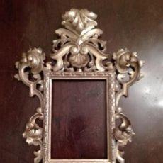 Antigüedades: MARCO - CORNUCOPIA - MADERA TALLADA - DORADO ORO FINO- SIGLO XVIII- BARROCO. Lote 133634550