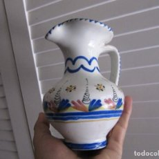 Antigüedades: ANTIGUA JARRA DE CERÁMICA .PINTADA A MANO.. Lote 133637978