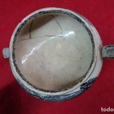 Antigüedades: SOPERA DE LOZA DE CARTAGENA DEL SIGLO XIX. Lote 133655874