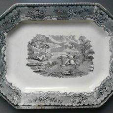 Antigüedades: BANDEJA PLATA CARTAGENA CAZA DEL CIERVO. Lote 145408230