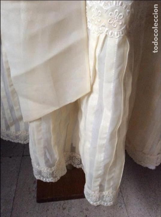 Antigüedades: PRECIOSO VESTIDO DE COMUNIÓN ANTIGUO CON TOCADO - Foto 6 - 84699728