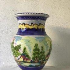 Antigüedades: GRAN JARRÓN DE CERÁMICA. TALAVERA ? VER FOTOS ANEXAS. . Lote 133699190
