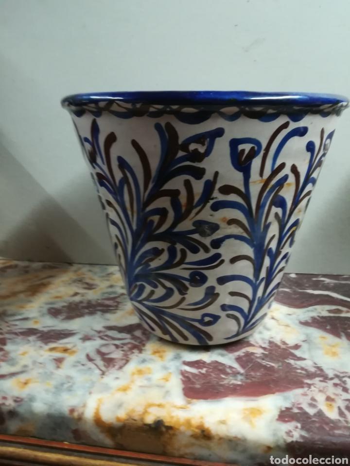 CERÁMICA POPULAR ESPAÑOLA DE FAJALAUZA XX CASCO DE MACETA (Antigüedades - Porcelanas y Cerámicas - Fajalauza)