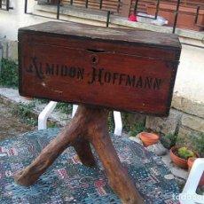 Antigüedades: ANTIGUO BAUL ALMIDÓN HOFFMANN RECONVERTIDO EN RÚSTICO APARADOR - PRECIOSIDAD - VER. Lote 133706282