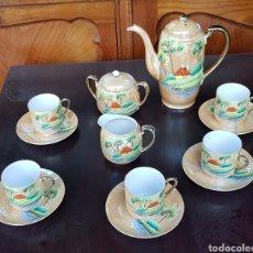 Antigüedades: ANTIGUO JUEGO DE TE O CAFE JAPONES PINTADO A MANO FOREIGN. Lote 133721690
