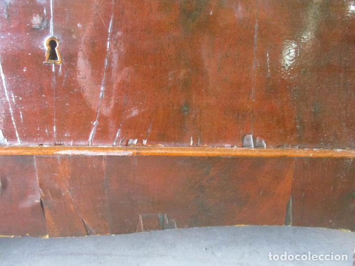 Antigüedades: Antigua Cómoda Isabelina Bombeada - Madera de Raíz de Caoba - Mármol Blanco - S. XIX - Foto 22 - 133731566