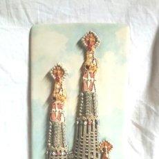 Antigüedades: SAGRADA FAMILIA GAUDI, COLECCIÓN ARTESANIAS MODERNISTAS DE BARCELONA DE PORCELANA. MED. 16 X 38 CM. Lote 133746998