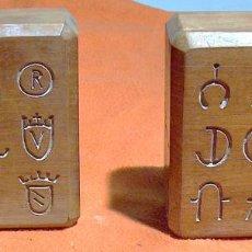 Antigüedades: PARA XILOGRAFIA, TALLADO EN MADERA, MARCAS GANADERIA TOROS, VACAS, . Lote 133747922