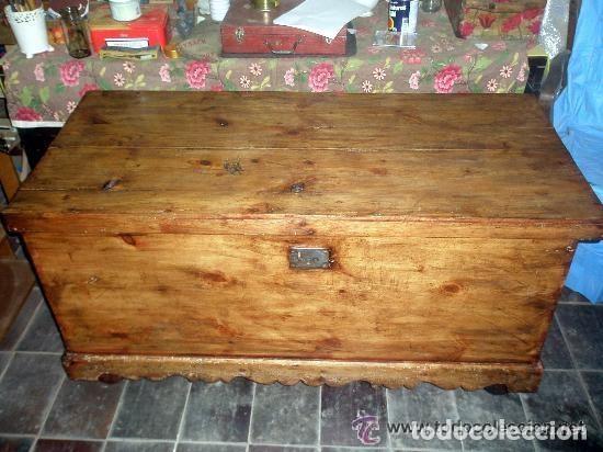 Antigüedades: Soberbio arcón o baúl de pino aragonés. Restaurado. 137x110x63cm - Foto 2 - 121238599
