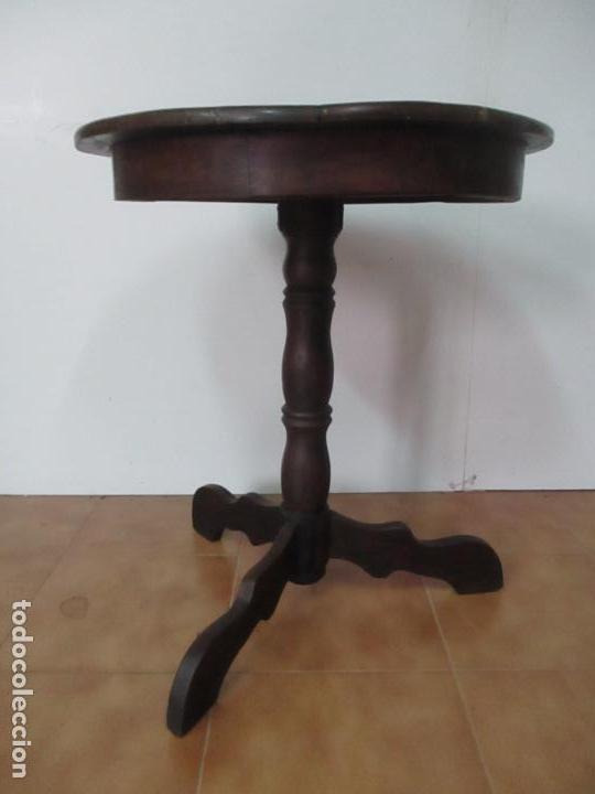 Antigüedades: Mesa de Centro Isabelina, Redonda - Madera de Olivo, Maciza - S. XIX - Foto 3 - 133782342