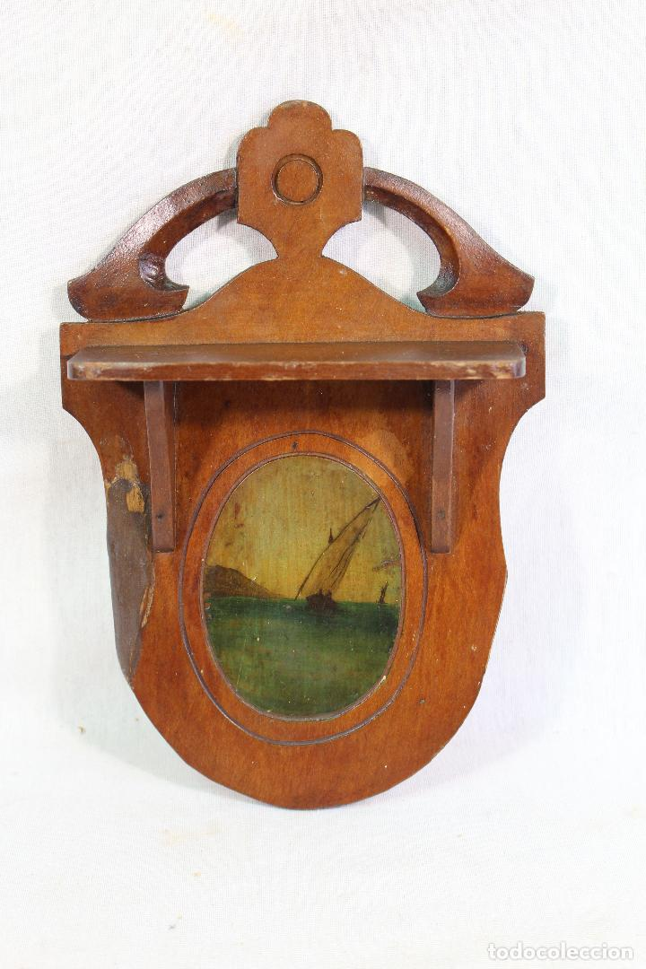 Antigüedades: repisa mensula en madera - Foto 2 - 133792210