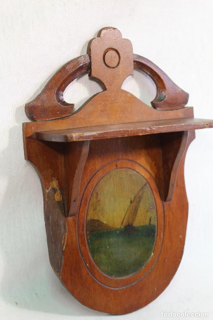 Antigüedades: repisa mensula en madera - Foto 3 - 133792210