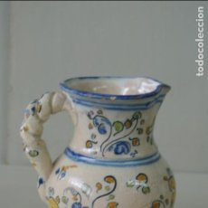 Antigüedades: ANTIGUA JARRA DE TALAVERA. ASA DE CUERDA, 12 CM, SASO. Lote 133806246