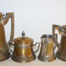 Antigüedades: JUEGO DE CAFÉ O TÉ ALEMÁN ART NOUVEAU JUGENDSTIL SELLO WMF - PRINCIPIOS DEL SIGLO XX. Lote 133810374